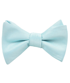 Powder Blue Satin Self Bow Tie