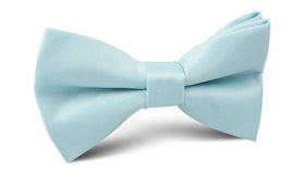 Powder Blue Satin Bow Tie