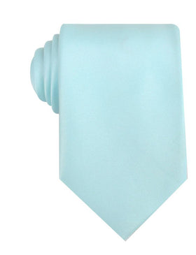 Powder Blue Satin Necktie