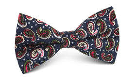 Prague Paisley Blue Floral Bow Tie