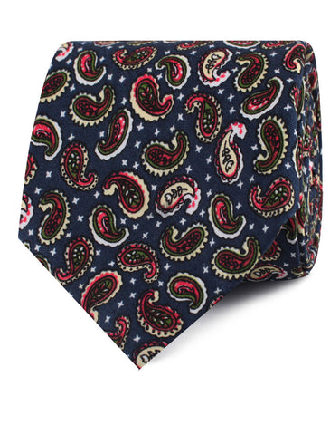 Prague Paisley Blue Floral Tie