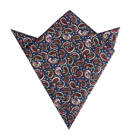 Prague Paisley Blue Floral Pocket Square