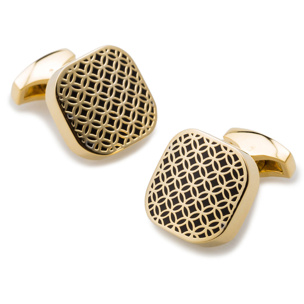 Presidents Quarter Gold Cufflinks