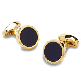 Prince Azure Blue and Gold Cufflinks