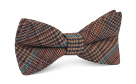 Prince of Wales Brown Bow Tie