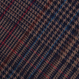 Prince of Wales Brown Fabric Skinny Tie
