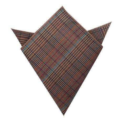 Prince of Wales Brown Pocket Square
