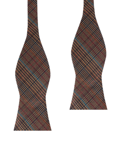 Prince of Wales Brown Self Bow Tie