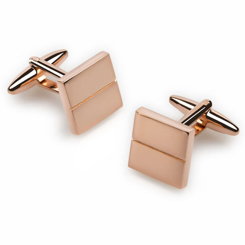 Princes Charles Rose Gold Cufflinks