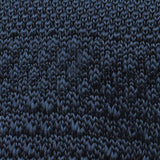 Prussian Navy Blue Knitted Tie Fabric