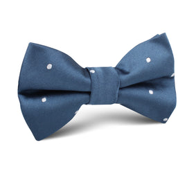 Prussian Polka Dots Kids Bow Tie