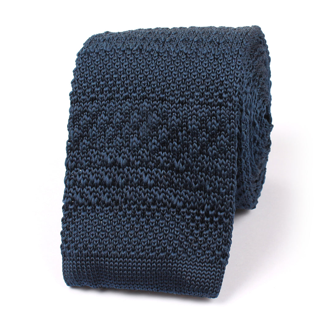 Prussian Navy Blue Knitted Tie