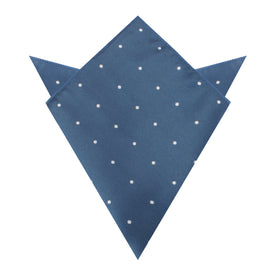 Prussian Polka Dots Pocket Square