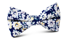Puerto Rico White Flower Bow Tie