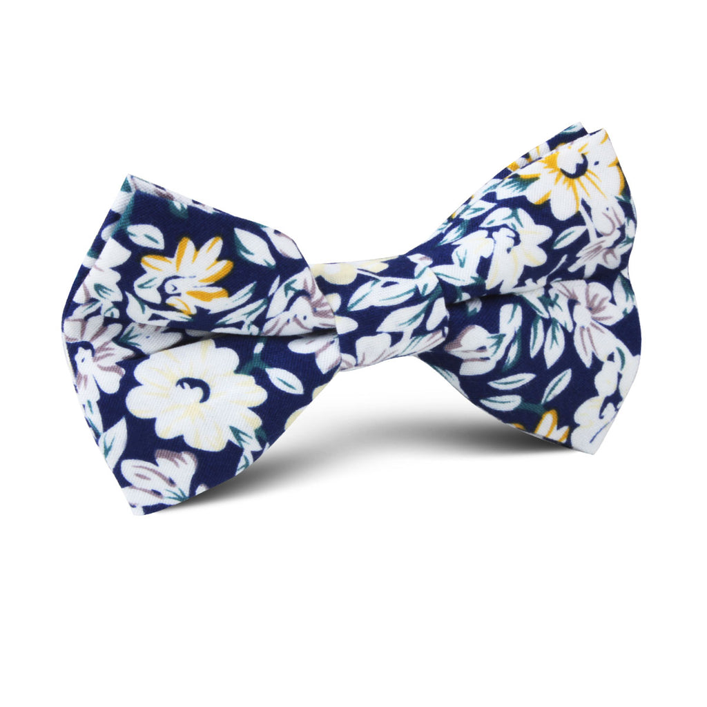 Puerto Rico White Flower Kids Bow Tie