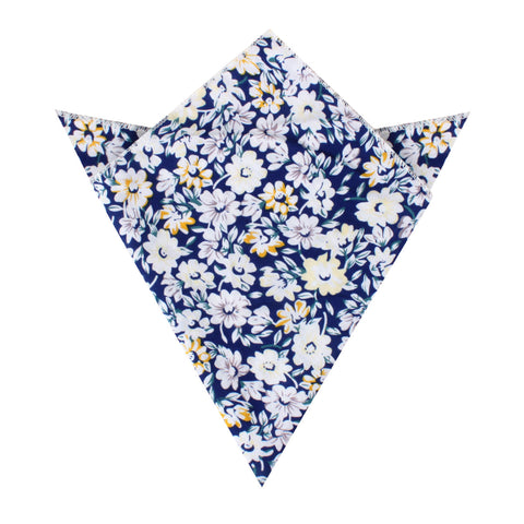 Puerto Rico White Flower Pocket Square