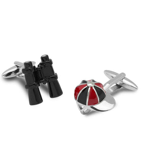 Punter and Jockey Racing Cufflinks