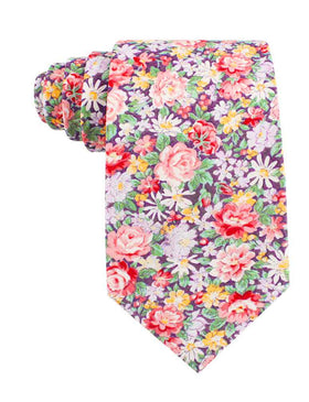 Purple Giverny Floral Tie