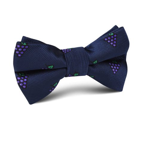 Purple Grapes Kids Bow Tie