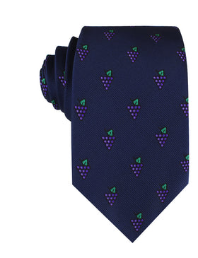 Purple Grapes Necktie