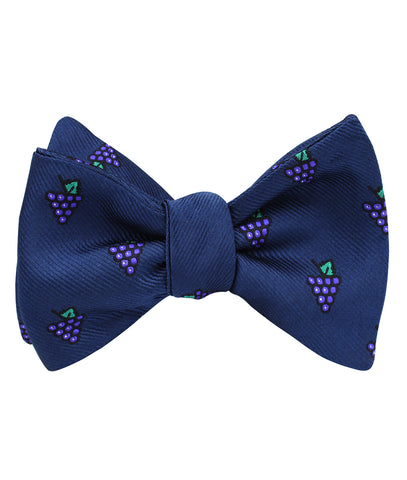 Purple Grapes Self Bow Tie
