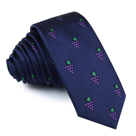 Purple Grapes Skinny Tie