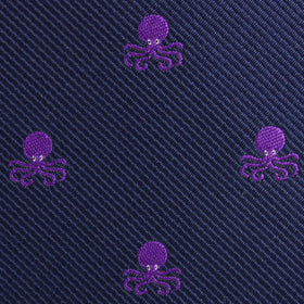 Purple Octopus Diamond Bow Tie