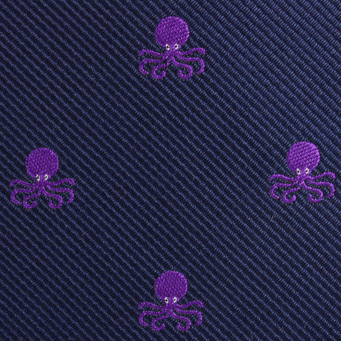Purple Octopus Pocket Square