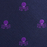 Purple Octopus Fabric Self Bowtie