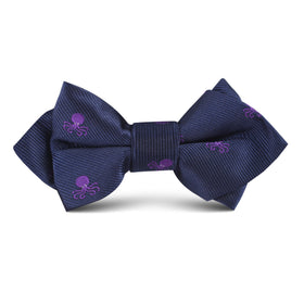 Purple Octopus Kids Diamond Bow Tie