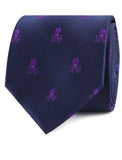 Purple Octopus Necktie