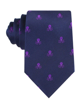 Purple Octopus Tie