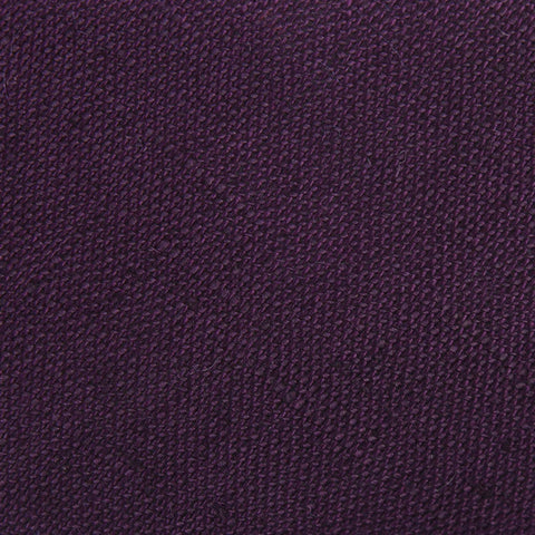 Purple Plum Slub Linen Pocket Square