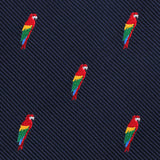 Rainbow Parrot Pocket Square Fabric