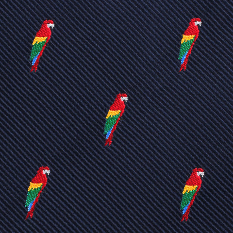 Rainbow Parrot Pocket Square