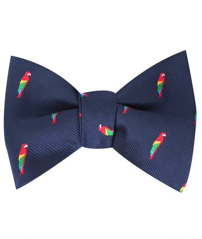 Rainbow Parrot Self Bow Tie