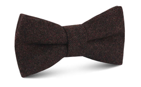 Rambouillet Donegal Brown Wool Bow Tie