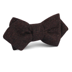 Rambouillet Donegal Brown Wool Diamond Bow Tie
