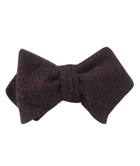 Rambouillet Donegal Brown Wool Diamond Self Bow Tie