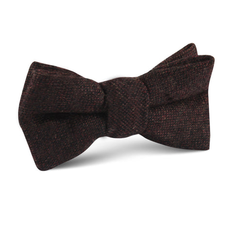 Rambouillet Donegal Brown Wool Kids Bow Tie