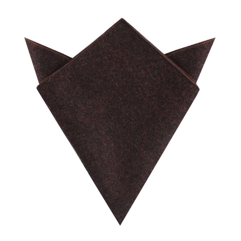 Rambouillet Donegal Brown Wool Pocket Square