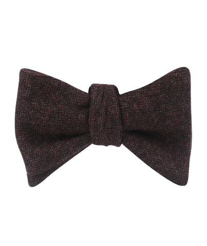 Rambouillet Donegal Brown Wool Self Bow Tie