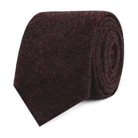 Rambouillet Donegal Brown Wool Skinny Tie