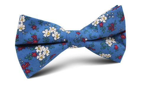 Ravenna Blue Floral Bow Tie