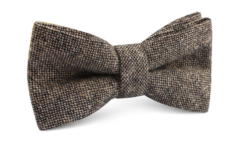 Raw Cocoa Sharkskin Bow Tie