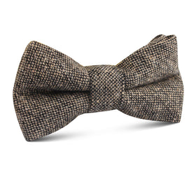 Raw Cocoa Sharkskin Kids Bow Tie