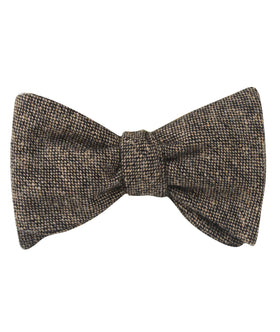 Raw Cocoa Sharkskin Self Bow Tie
