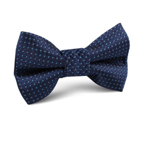 Ray Kroc Blue Pin Dot Kids Bow Tie