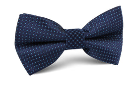 Ray Kroc Blue Pin Dot Bow Tie