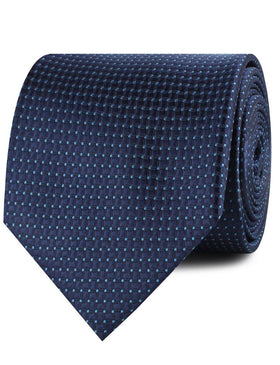 Ray Kroc Blue Pin Dot Necktie